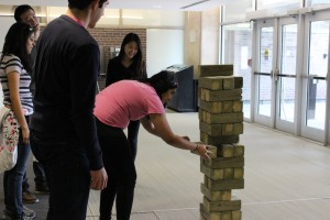 Giant Jenga was a huge hit.